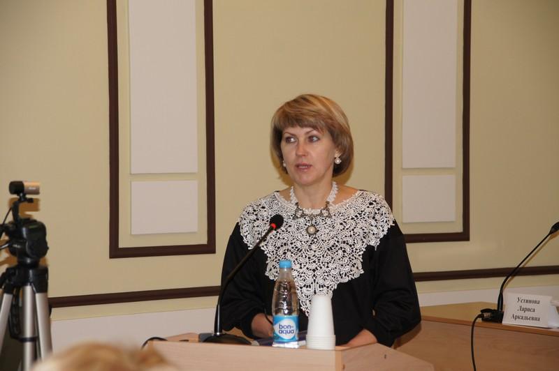 Открывает семинар Т.В. Дернова, первый зам. Министра образования Омской области